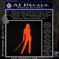Kill Bill Black Mamba D1 Decal Sticker Orange Emblem 120x120