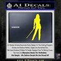 Kill Bill Black Mamba D1 Decal Sticker Yellow Laptop 120x120