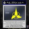 Klingon Decal Sticker Command Yellow Laptop 120x120