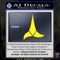 Klingon Decal Sticker Star Trek Yellow Laptop 120x120