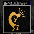 Kokopelli D2 Decal Sticker Gold Metallic Vinyl 120x120
