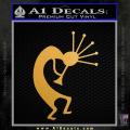 Kokopelli D2 Decal Sticker Gold Metallic Vinyl 120x120