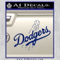 LA Dodgers Decal Sticker Full Blue Vinyl 120x120