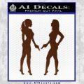 Ladies With Guns Decal Sticker BROWN Vinyl 120x120