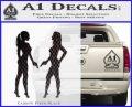 Ladies With Guns Decal Sticker Carbon FIber Black Vinyl 120x97