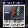 Ladies With Guns Decal Sticker Glitter Sparkle 120x120