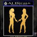 Ladies With Guns Decal Sticker Gold Vinyl 120x120