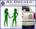 Ladies With Guns Decal Sticker Green Vinyl Logo 120x97