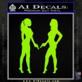 Ladies With Guns Decal Sticker Lime Green Vinyl 120x120