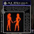 Ladies With Guns Decal Sticker Orange Emblem 120x120