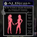 Ladies With Guns Decal Sticker Pink Emblem 120x120