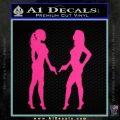 Ladies With Guns Decal Sticker Pink Hot Vinyl 120x120