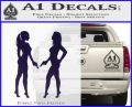 Ladies With Guns Decal Sticker PurpleEmblem Logo 120x97