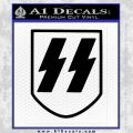 Late SS Helmet Nazi WW2 Decal Sticker Black Vinyl 120x120