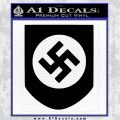 Late Swastika Helmet Nazi WW2 Decal Sticker Black Vinyl 120x120