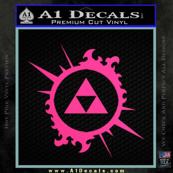 Legend Of Zelda Triforce Splash D1 Decal Sticker A1 Decals