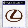 Lexus Decal Sticker Logo BROWN Vinyl 120x120