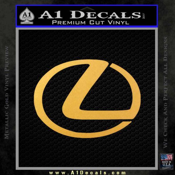 Lexus Decal Sticker Logo Gold Vinyl