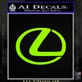 Lexus Decal Sticker Logo Lime Green Vinyl 120x120