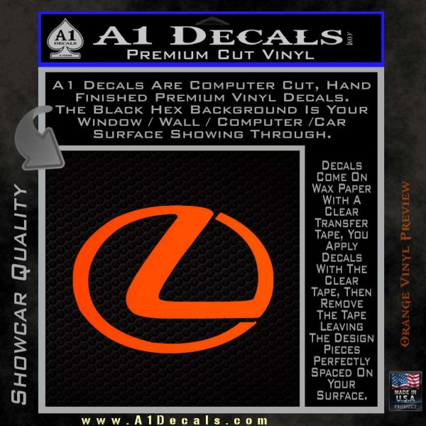 Lexus Decal Sticker Logo A Decals - Lexus custom vinyl decals for car