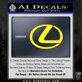Lexus Decal Sticker Logo Yellow Laptop 120x120