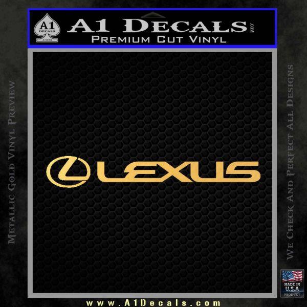 Lexus Decal Sticker Wide Gold Vinyl