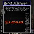 Lexus Decal Sticker Wide Orange Emblem 120x120