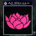 Lotus Flower Decal Sticker D2 Pink Hot Vinyl 120x120