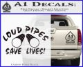 Loud Pipes Save Lives 2 Pipes Full Decal Sticker Carbon FIber Black Vinyl 120x97
