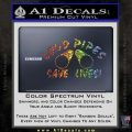 Loud Pipes Save Lives 2 Pipes Full Decal Sticker Glitter Sparkle 120x120