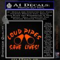 Loud Pipes Save Lives 2 Pipes Full Decal Sticker Orange Emblem 120x120