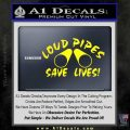 Loud Pipes Save Lives 2 Pipes Full Decal Sticker Yellow Laptop 120x120