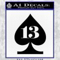 Lucky 13 Decal Sticker Spade Black Vinyl 120x120