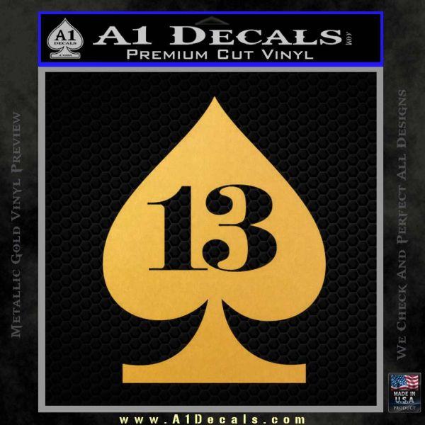 Lucky 13 Decal Sticker Spade 187 A1 Decals