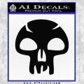 MTG Black Mana Decal Sticker Swamps Black Vinyl 120x120