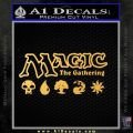 MTG Magic The Gathering Mana Symbols Decal Sticker Gold Vinyl 120x120