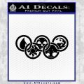 Magic The Gathering Olympics D1 Decal Sticker Black Vinyl 120x120