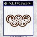 Magic The Gathering Olympics D2 Decal Sticker BROWN Vinyl 120x120