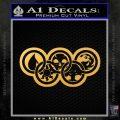 Magic The Gathering Olympics D2 Decal Sticker Gold Vinyl 120x120