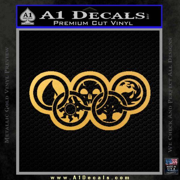 Magic The Gathering Olympics D2 Decal Sticker Gold Vinyl