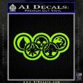Magic The Gathering Olympics D2 Decal Sticker Lime Green Vinyl 120x120