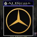 Mercedes Logo D1 Decal Sticker Gold Vinyl 120x120