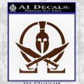 Molon Labe Gun Omega Spartan Decal Sticker BROWN Vinyl 120x120