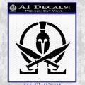 Molon Labe Gun Omega Spartan Decal Sticker Black Vinyl 120x120