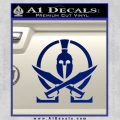 Molon Labe Gun Omega Spartan Decal Sticker Blue Vinyl 120x120