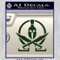 Molon Labe Gun Omega Spartan Decal Sticker Dark Green Vinyl 120x120