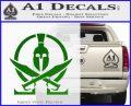 Molon Labe Gun Omega Spartan Decal Sticker Green Vinyl Logo 120x97