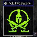 Molon Labe Gun Omega Spartan Decal Sticker Lime Green Vinyl 120x120