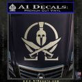 Molon Labe Gun Omega Spartan Decal Sticker Metallic Silver Emblem 120x120
