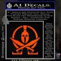 Molon Labe Gun Omega Spartan Decal Sticker Orange Emblem 120x120